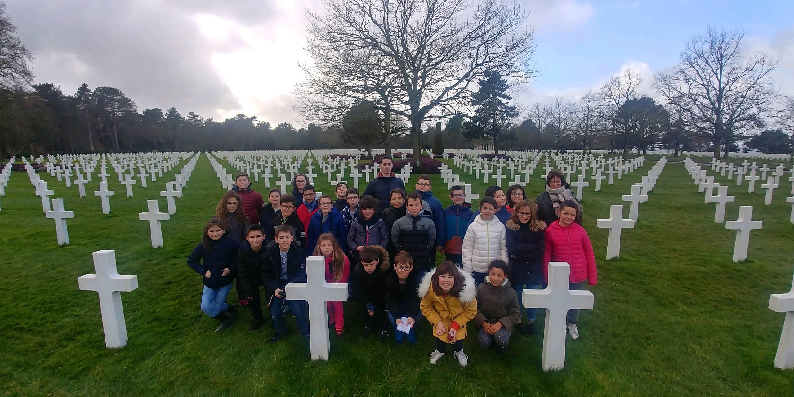 Visite du cimetière Américain de Colleville (28/02/19)