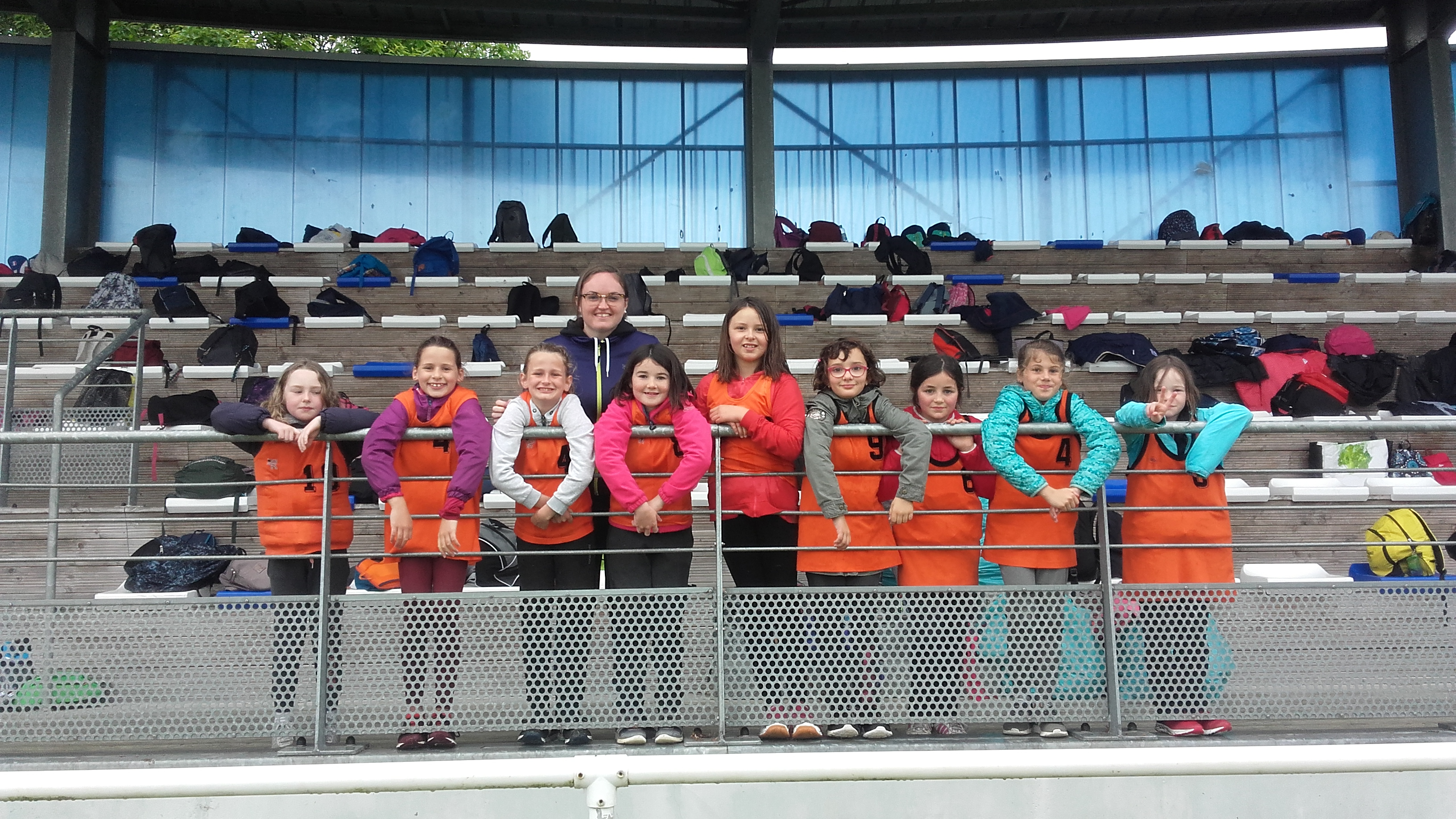 Tournoi de rugby du 4/06/19 : les élèves de CE2.